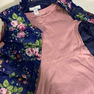 🌺 Girls Dress with Floral Vest 🌺